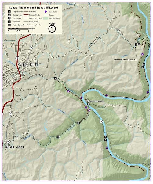 New River Gorge National River (Thurmond Area Trails)