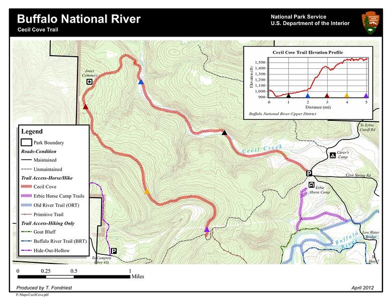 Buffalo National River (Cecil Cove Trail)