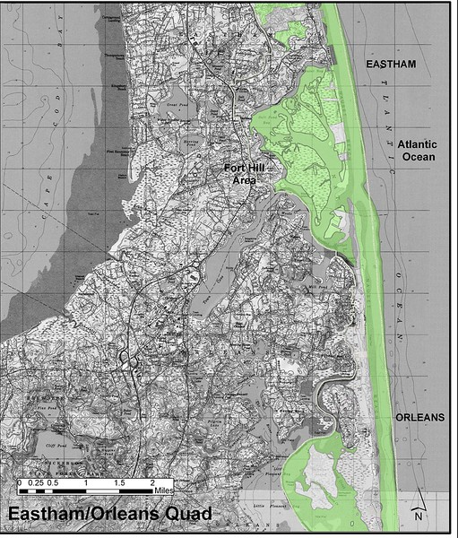 Cape Cod National Seashore (Eastham-Orleans Quad Hunting Zone Map)