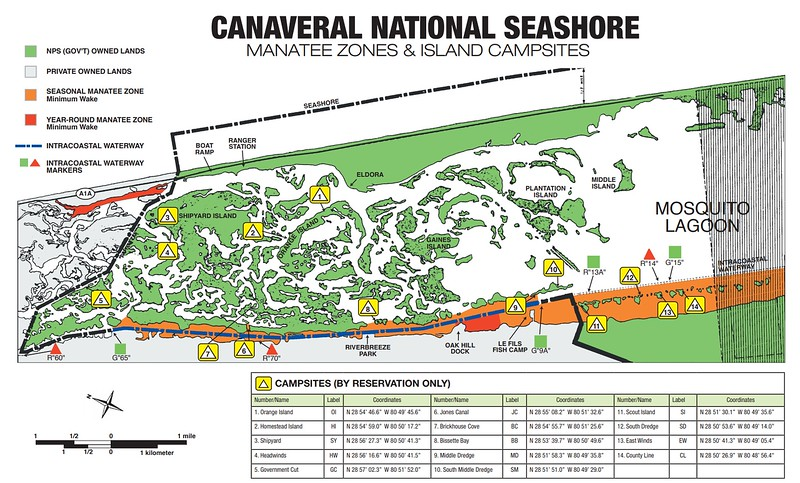 Canaveral National Seashore (Mosquito Lagoon Campsites)
