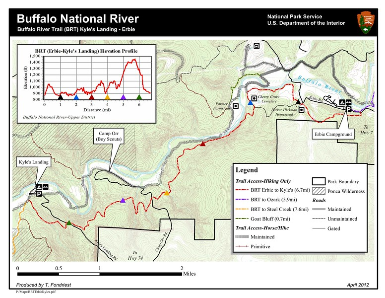Buffalo National River (Buffalo River Trail - Kyle's Landing to Erbie)