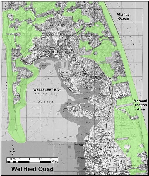 Cape Cod National Seashore (Wellfleet Quad Hunting Zone Map)