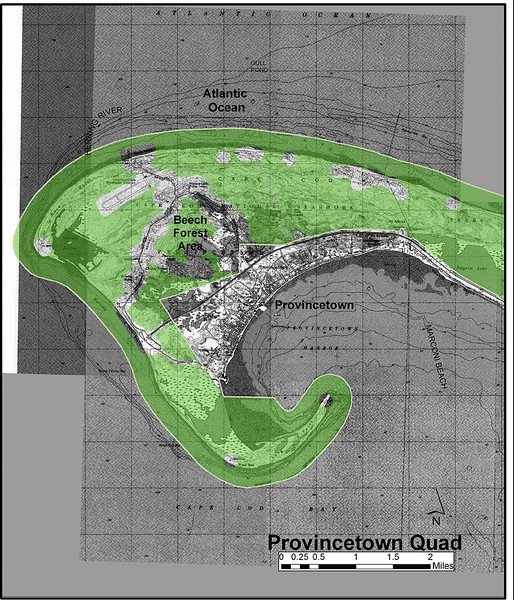 Cape Cod National Seashore (Provincetown Quad Hunting Zone Map)