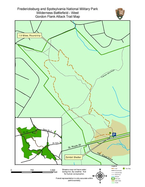 Fredericksburg & Spotsylvania National Military Park (Gordon Flank Attack Trail)
