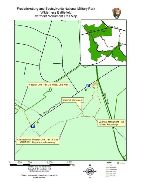Fredericksburg & Spotsylvania National Military Park (Vermont Monument Trail)