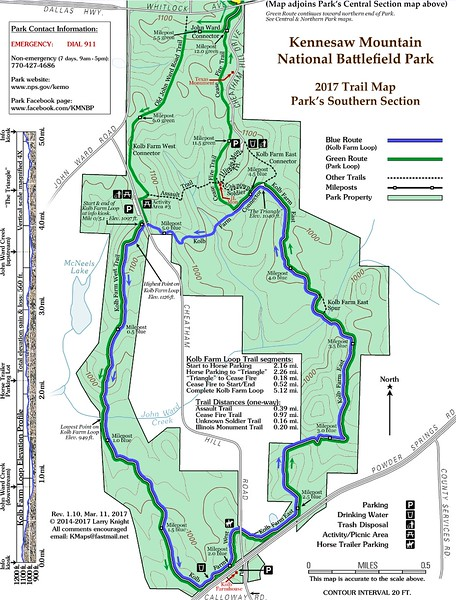 Kennesaw Mountain National Battlefield Park (Trail Map - South)