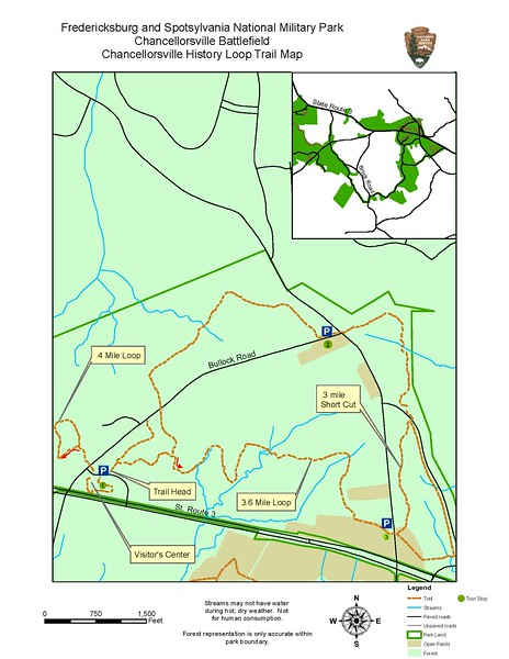 Fredericksburg & Spotsylvania National Military Park (Chancellorsville History Loop Trail)