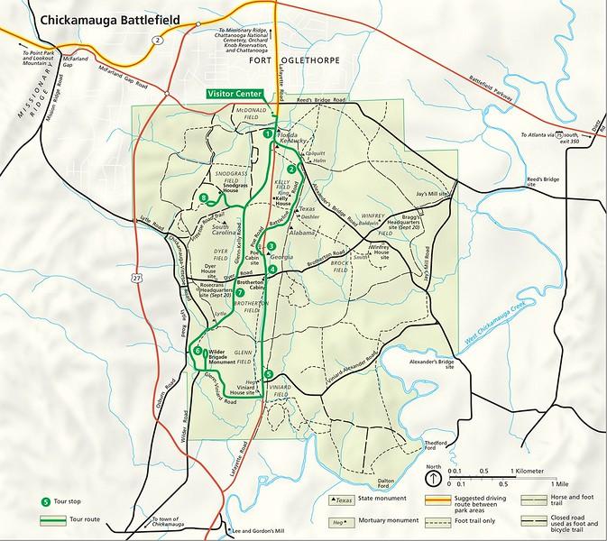 Chickamauga & Chattanooga National Military Park - Chickamauga Battlefield Unit