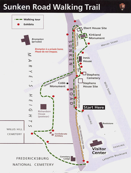 Fredericksburg & Spotsylvania National Military Park (Sunken Road Walking Trail)