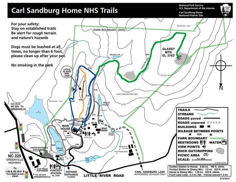 Carl Sandburg Home National Historic Site (Trail Map)
