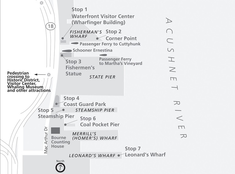 New Bedford Whaling National Historical Park (Dock Walk Map)