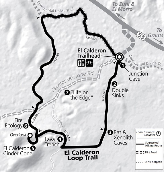 El Malpais National Monument (El Calderon Area Trail Map)