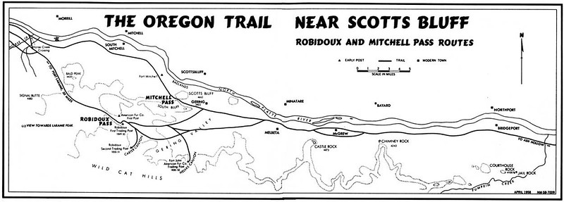 Scotts Bluff National Monument (Oregon Trail Route Map)