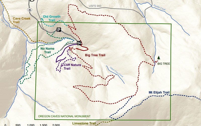 Oregon Caves National Monument (Trail Map)