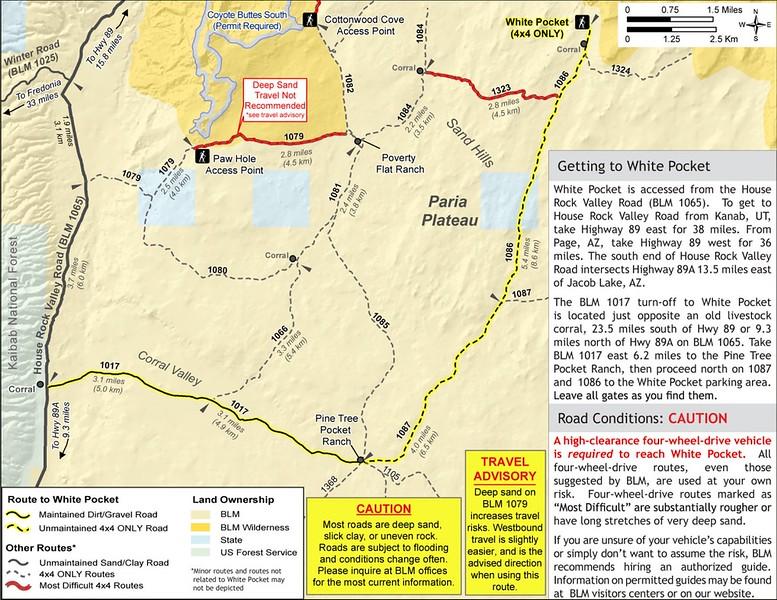 Vermilion Cliffs National Monument (White Pocket Area)
