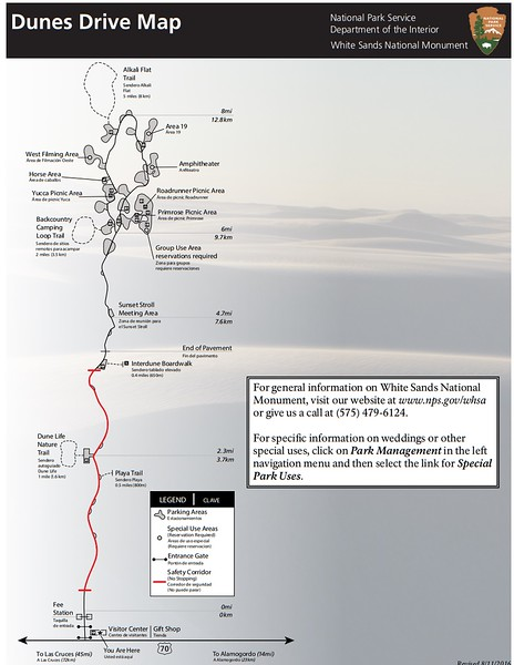 White Sands National Monument (Dunes Drive Map)