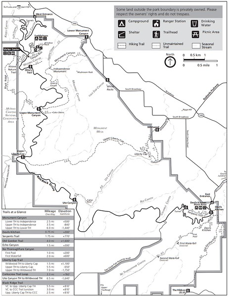 Colorado National Monument (Trail Map)