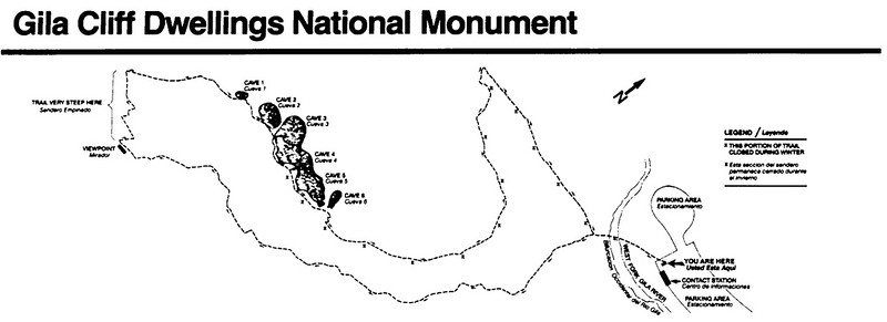 Gila Cliff Dwellings National Monument (Trail Map)