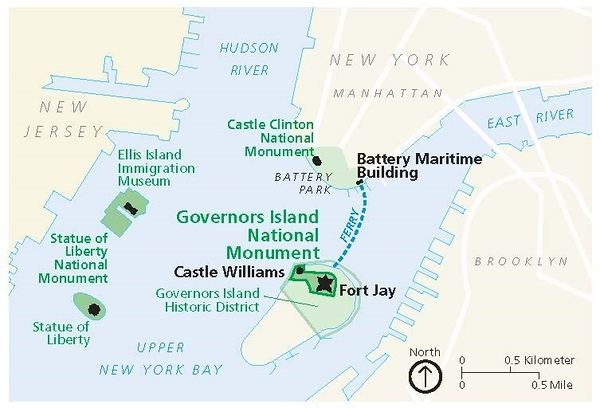 Governors Island National Monument (Location Map)