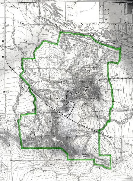 Scotts Bluff National Monument (Topographic Map)