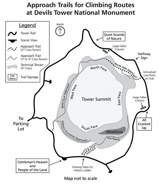 Devils Tower National Monument (Climbing Approach Trails)