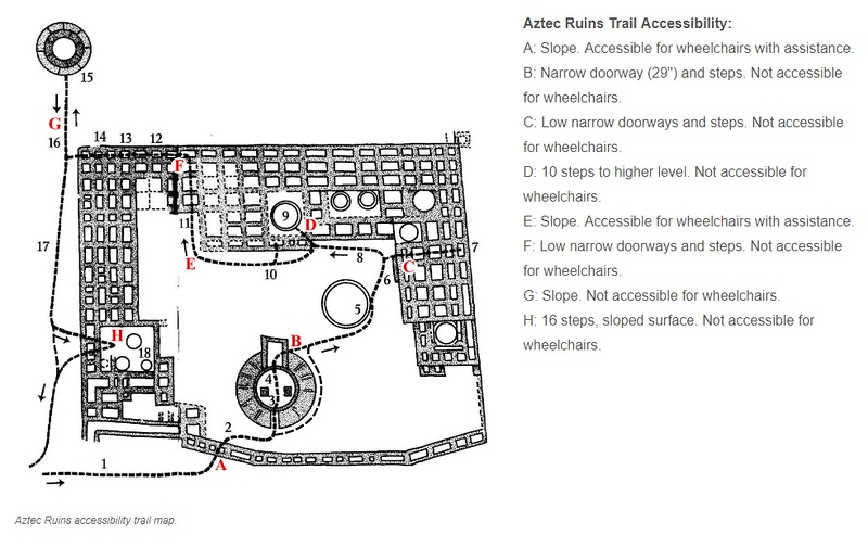 Aztec Ruins National Monument (Accessibility Map)