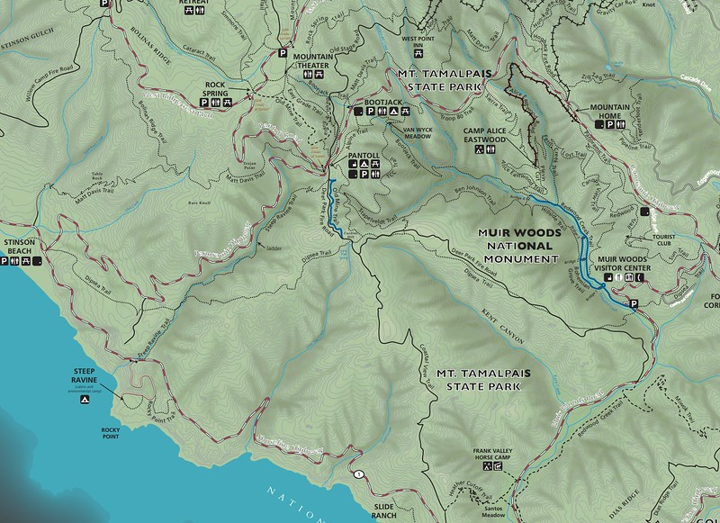 Muir Woods National Monument (Trail Map)