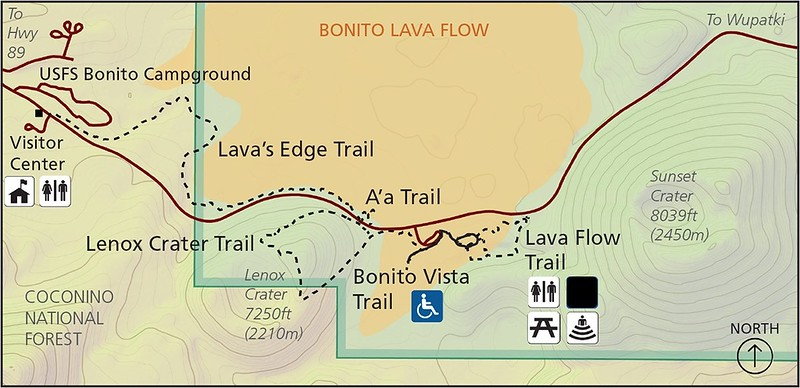 Sunset Crater Volcano National Monument (Trail Map)
