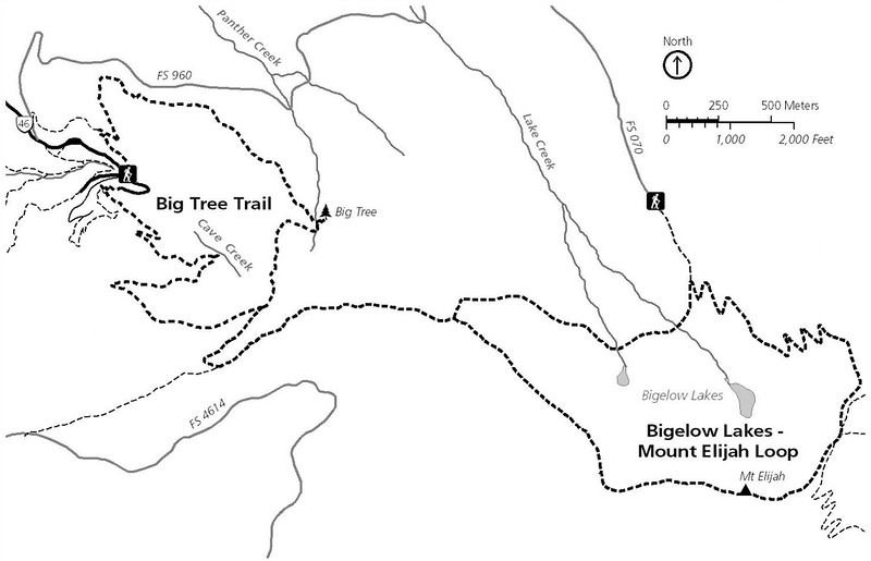 Oregon Caves National Monument (Trail Map - Dayhikes)