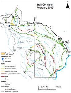 Bandelier National Monument (Trail Condition Map)