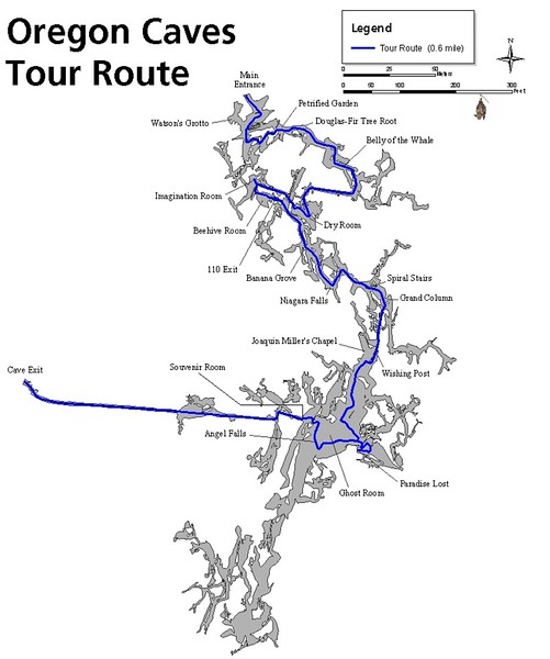 Oregon Caves National Monument (Tour Route Map)
