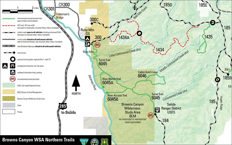 Browns Canyon National Monument (North Trails Map)