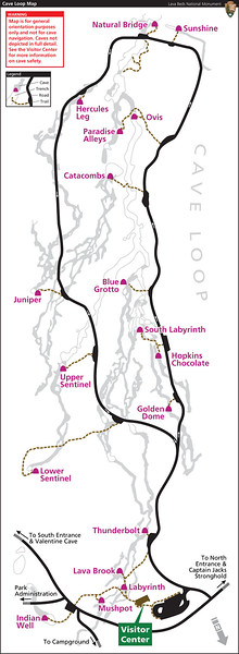 Lava Beds National Monument (Cave Loop Map)