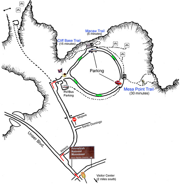 Petroglyph National Monument (Boca Negra Area Trail Map)
