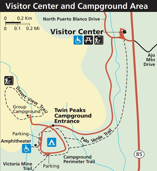 Organ Pipe Cactus National Monument (Visitor Center & Campground Areas)