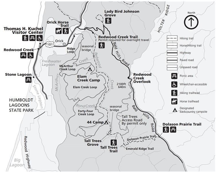 Redwood National Park (Redwood Creek Area)