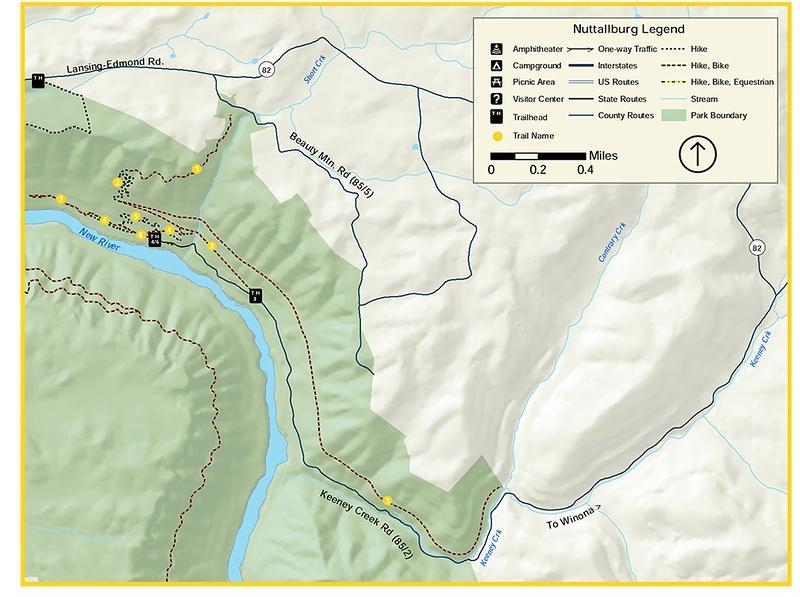 New River Gorge National Park and Preserve (Nuttallburg Area Trails)