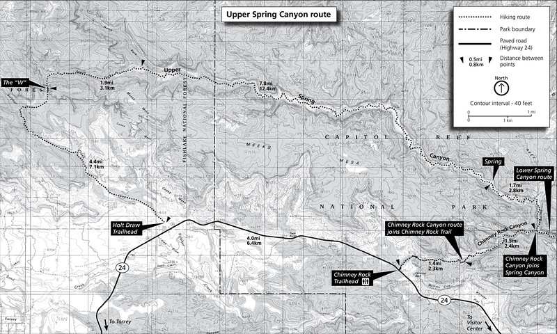 Capitol Reef National Park (Spring Canyon Area Trails - Upper)