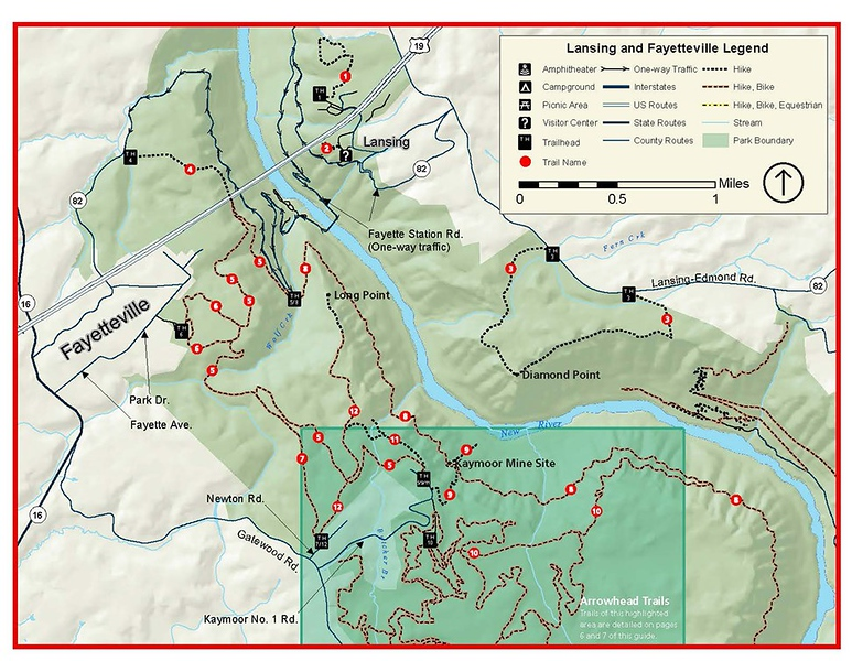 New River Gorge National Park and Preserve (Fayetteville Area Trails)