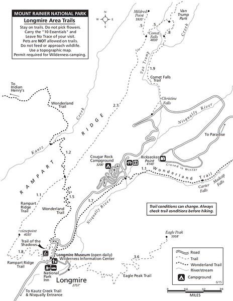 Mount Rainier National Park (Trails - Longmire Area)