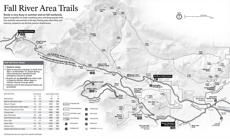 Rocky Mountain National Park (Trails - Fall River Area)