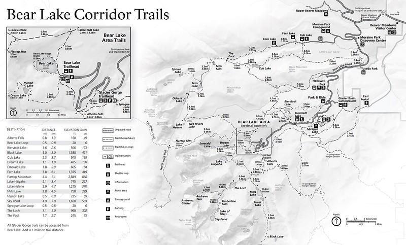 Rocky Mountain National Park (Trails - Bear Lake Corridor - Summer)