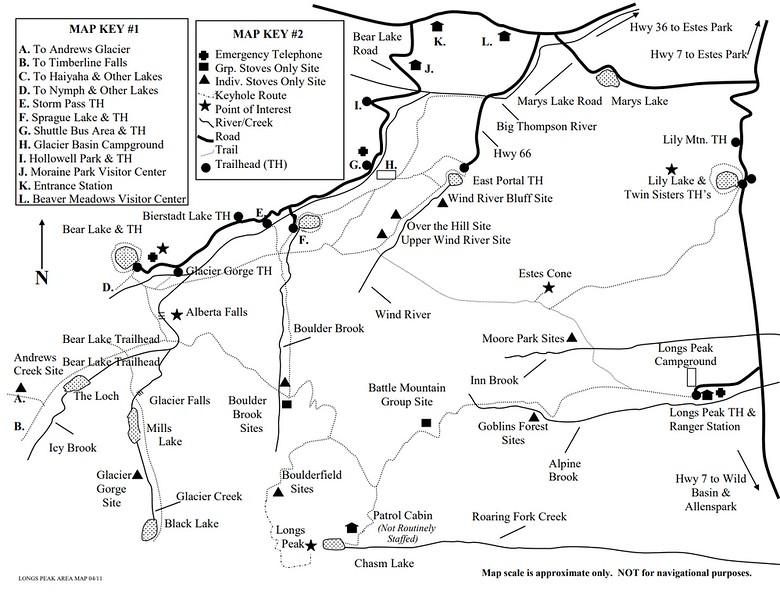Rocky Mountain National Park (Trails - Longs Peak Area)