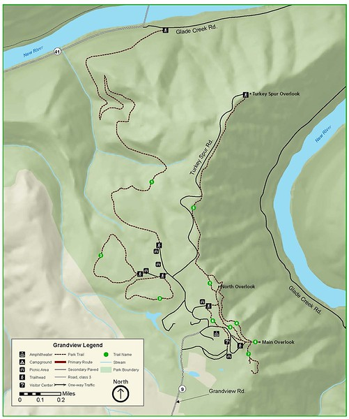 New River Gorge National Park and Preserve (Grandview Area Trails)