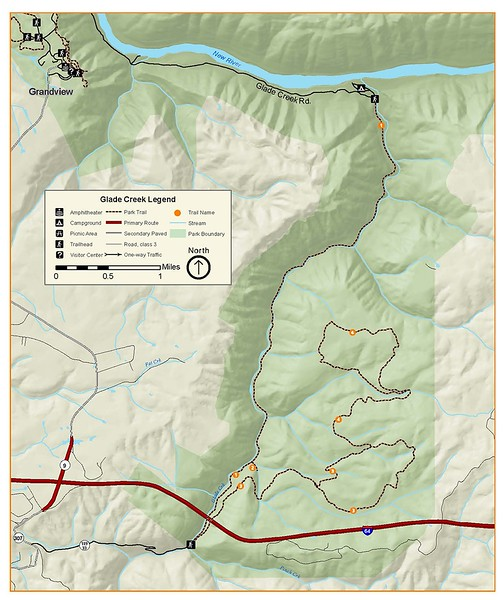 New River Gorge National Park and Preserve (Glade Creek Area Trails)