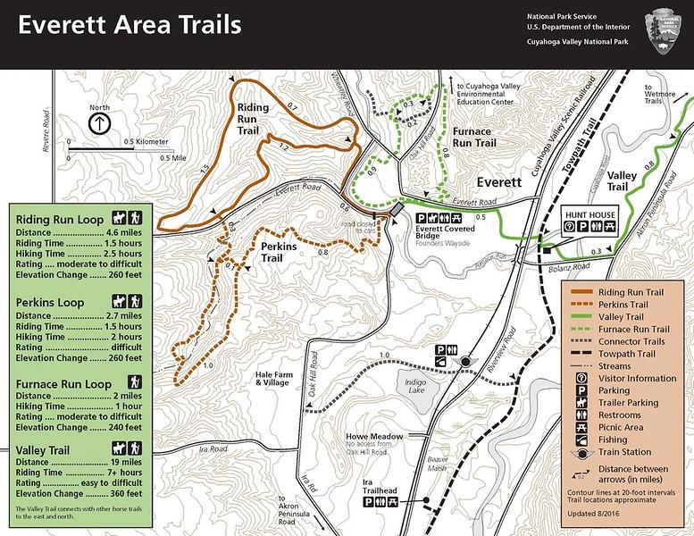 Cuyahoga Valley National Park (Everett Area Trails)