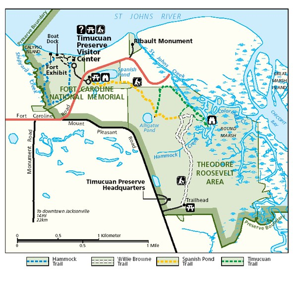 Timucuan Ecological and Historic Preserve (Fort Caroline & Theodore Roosevelt Areas)