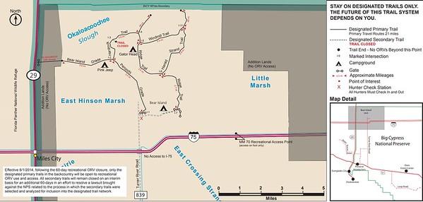 Big Cypress National Preserve (ORV Trails - Bear Island Unit)