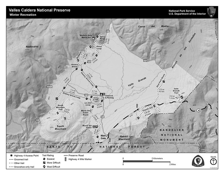 Valles Caldera National Preserve (Winter Recreation Map)