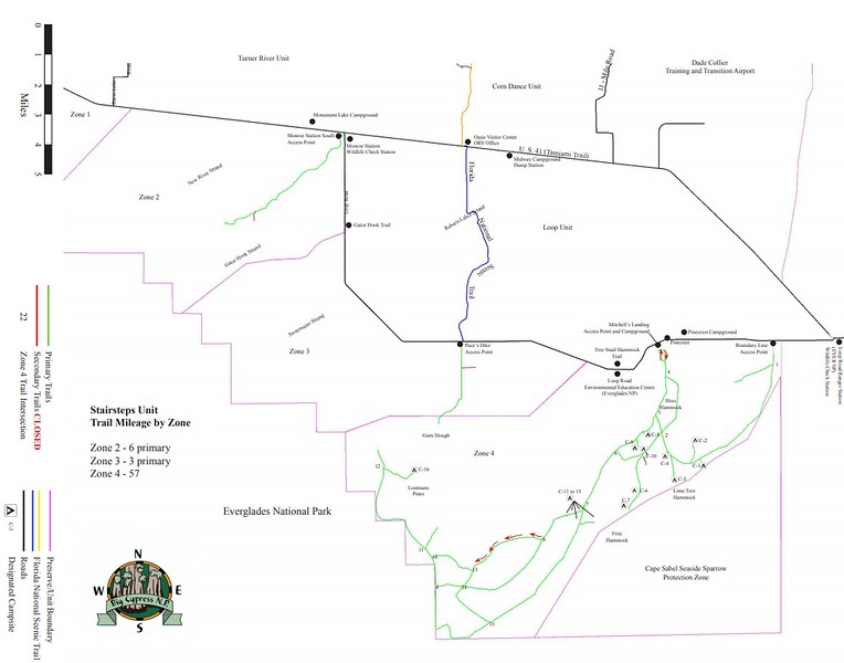 Big Cypress National Preserve (ORV Trails - Stairsteps Unit)